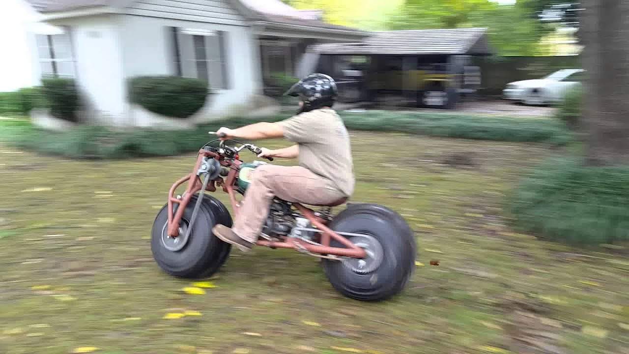 2 wheel drive motorcycle first test ride - youtube