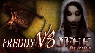 Freddy Krueger vs Jeff the Killer | Creepypasta meets Nightmare on Elm St. | Horror free full movie