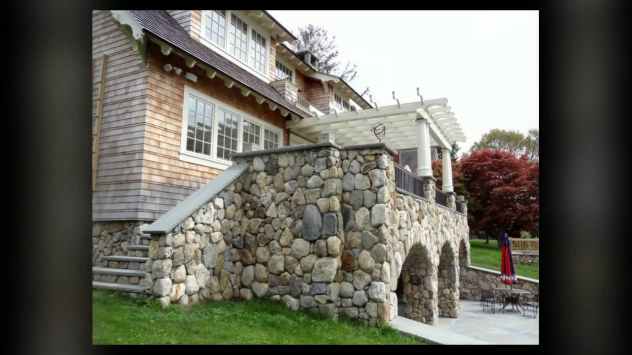 Boston blend round shingle style bungalow home with natural stone veneer youtube - Houses natural stone facades ...