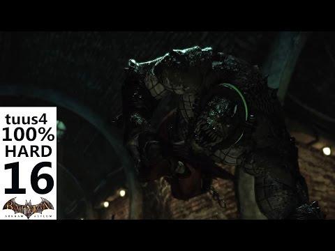 Batman: Arkham Asylum Walkthrough (Hard 100%) Part 16 - Killer Croc's Lair