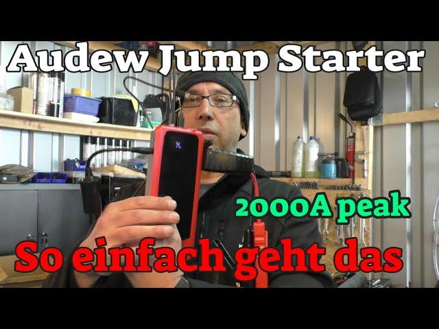 Audew Akku Pack / Jump starter - so einfach geht das