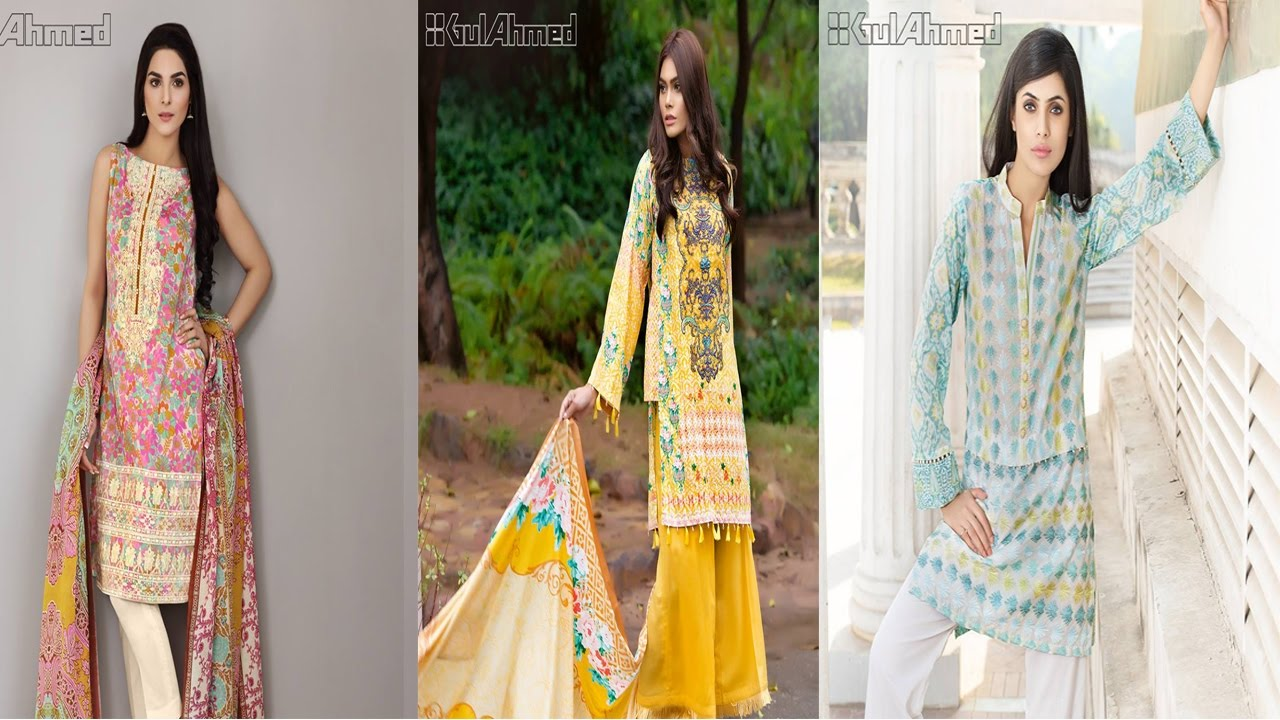 dc6936a51d Gul Ahmed New Embroidered Festive Eid Collection 2017 - YouTube