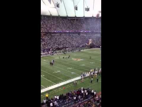 John Bell Singing National Anthem Packers Vikings game