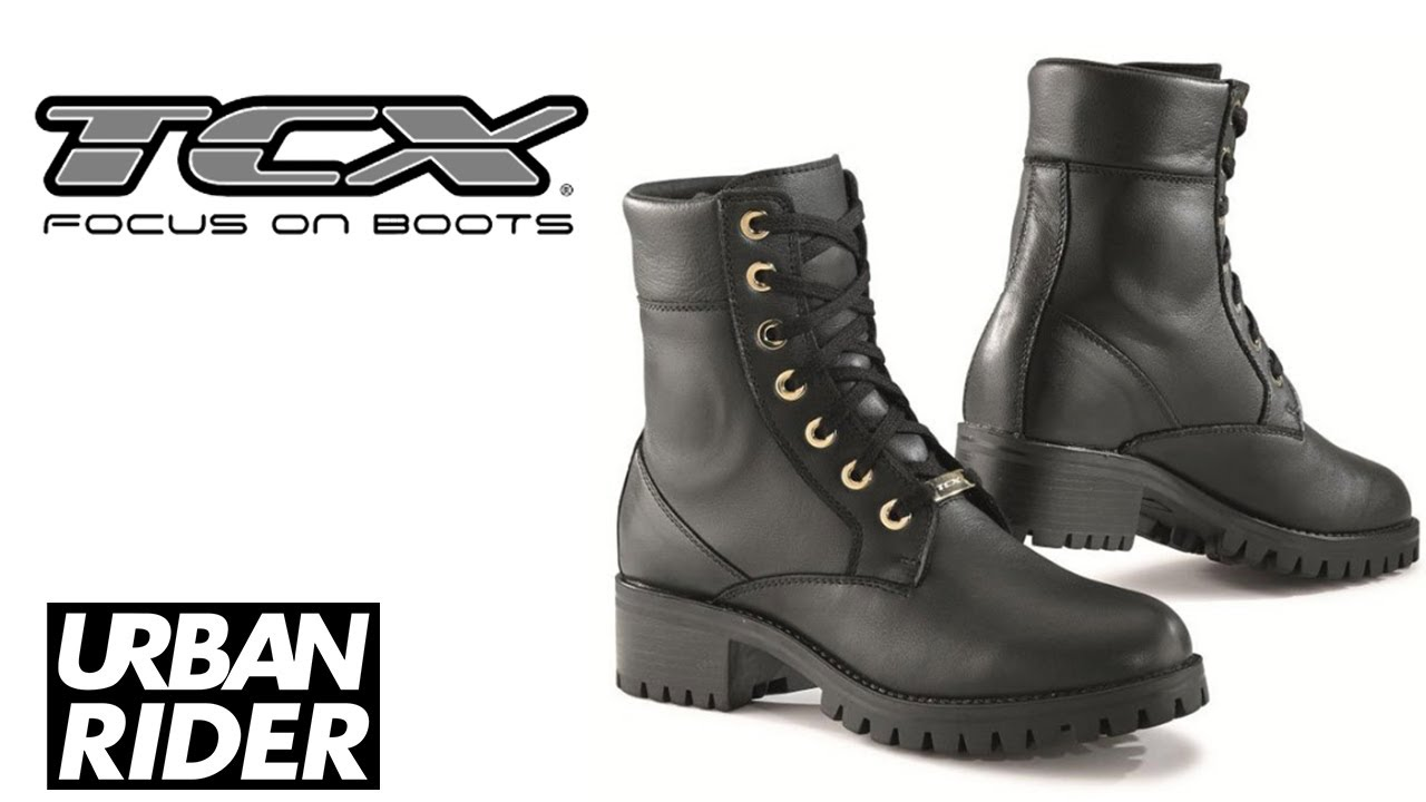 TCX SMOKE LADIES WP MOTORCYCLE BOOTS REVIEW by URBAN RIDER - YouTube