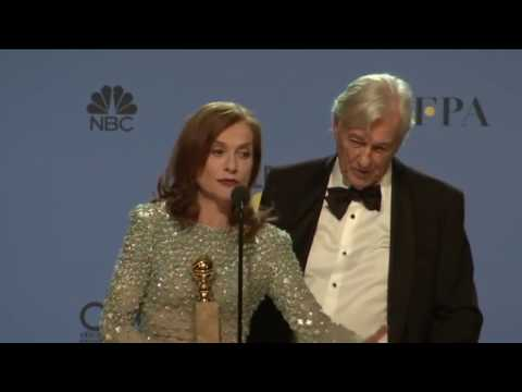 Thumbnail: Golden Globes 2017 Isabelle Huppert and Paul Verhoeven Backstage Interview