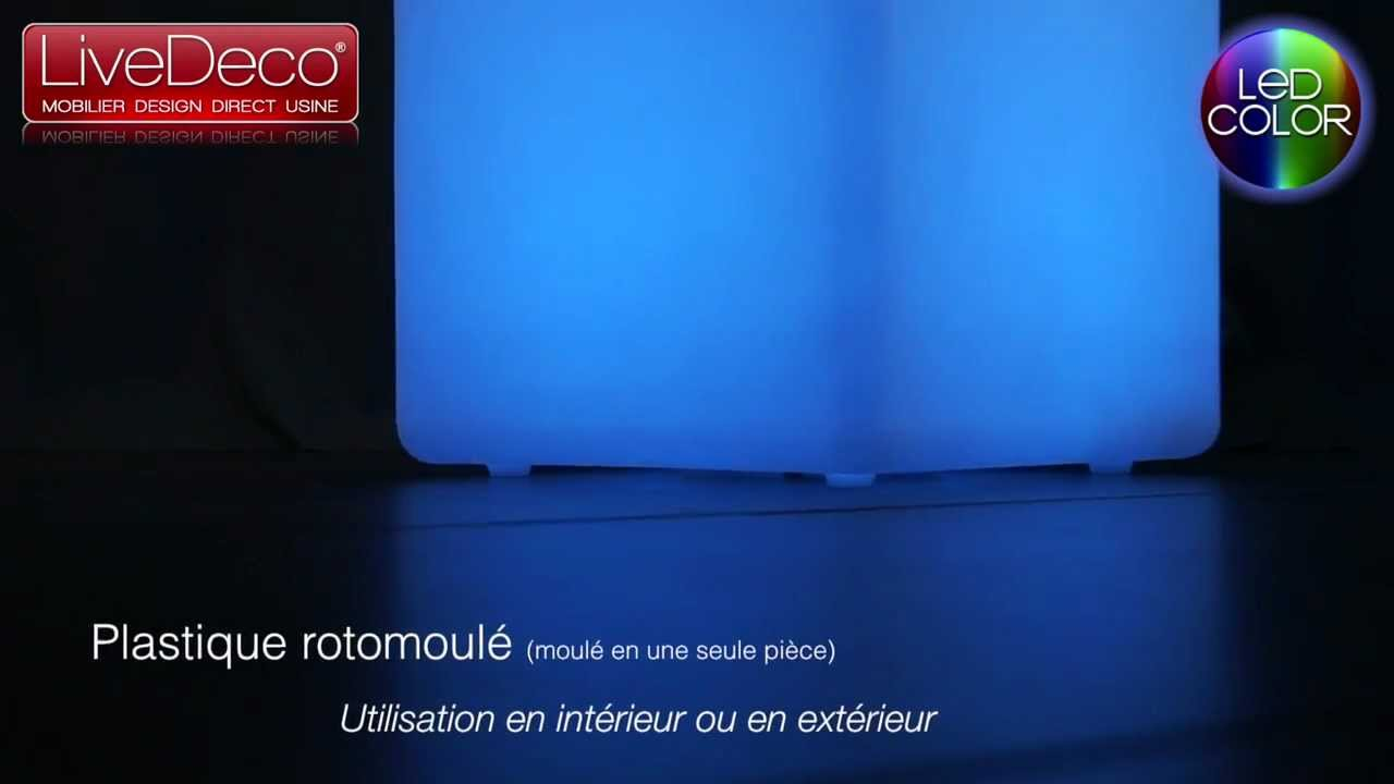 Dalle Exterieur Lumineuse Cube Lumineux Led By Livedeco