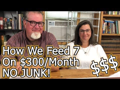 How We Feed 7 On 300 Dollars | A Monthly Meal Planning Budget