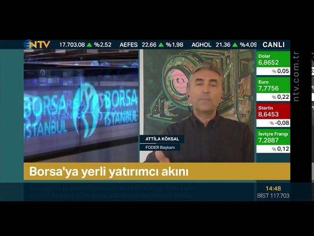 Borsa'da Yeni Yatırımcılara Tavsiyeler - NTV Finans Kafe Canlı Yayını - Attila Köksal