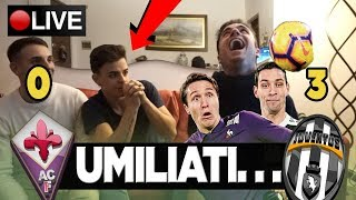 AVEVO UN VIOLA IN CASA.. Fiorentina Juventus 0-3  REAZIONE TIFOSI JUVENTINI