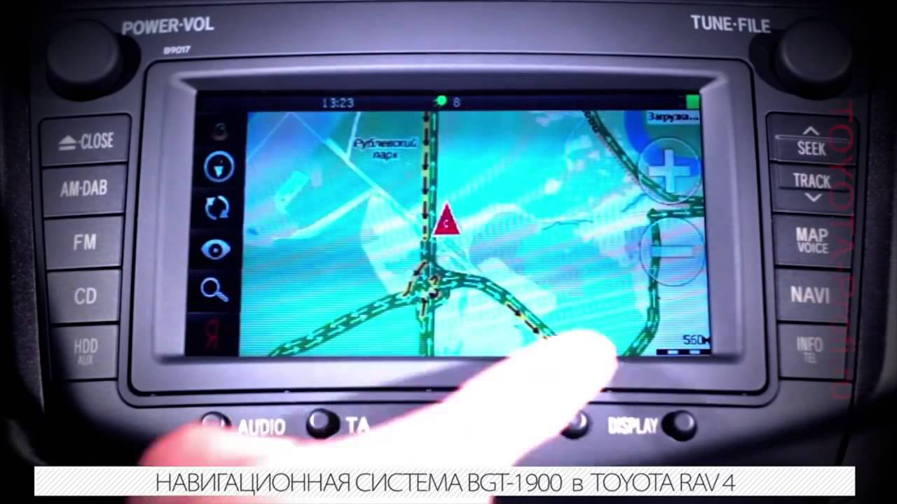 как обновить штатную навигацию toyota rav4
