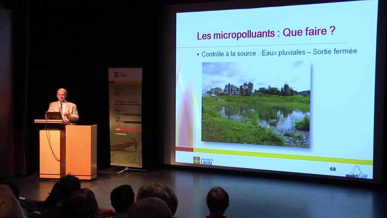 Peter Vanrolleghem- Des micropolluants dans votre verre d'eau ? (3/4)
