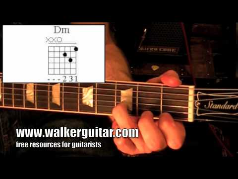 Chords - D minor (guitar lesson + TAB)