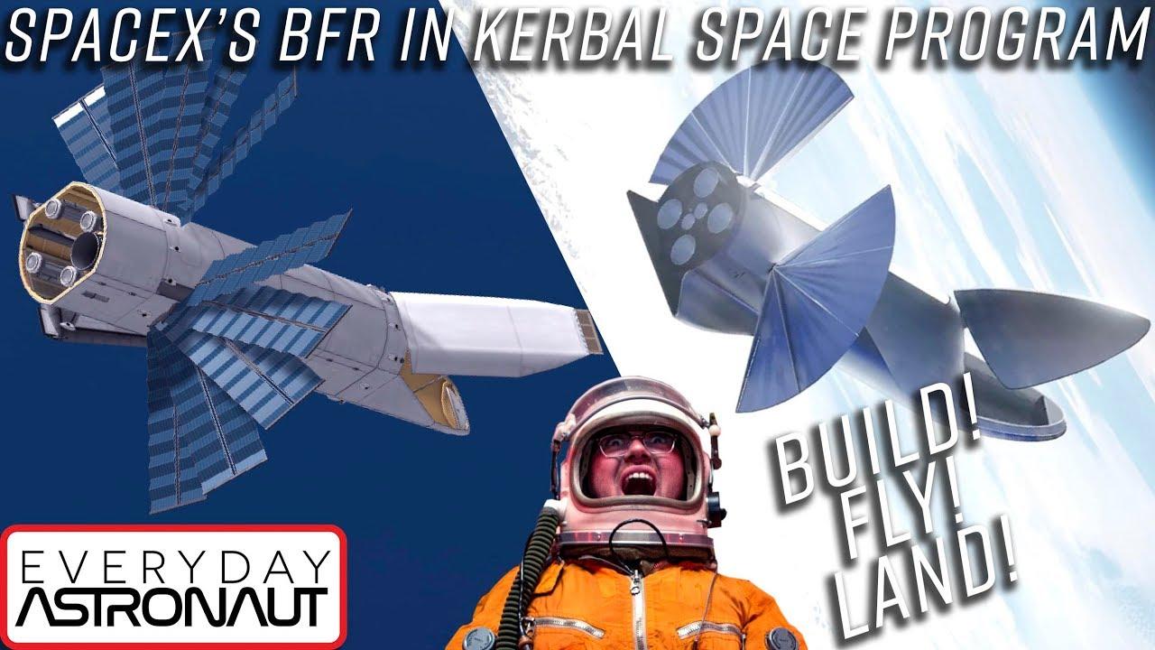 Building, flying, landing SpaceX's BFR in Kerbal Space Program (STOCK)