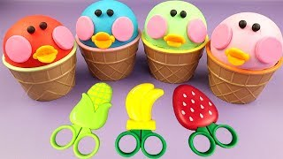 DIY How to Make Little Ducks in Ice Cream Cups with Playdoh + Boo Boo Song Nursery Rhymes for Kids