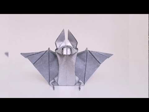 Origami Bat 🦇 (time_lapse)