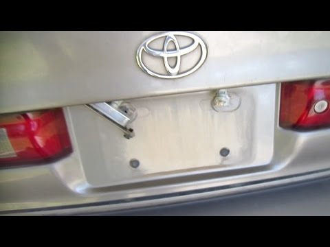 How to Find Toyota Camry License Plate Light Tail Light Problems ...