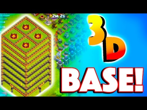 ATTACKING 3D BASE! - Clash of Clans - EPIC Maxed Base 3 Star + More! Pushing to Top 200 #4