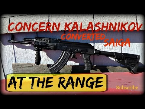 Concern Kalashnikov AK-47 at the Range