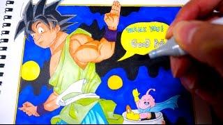 コピックでドラゴンボールの悟空を描いてみた Drawing Dragon Ball Goku