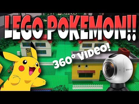 POKEMON LEGO 360 VIDEO!! (PALLET TOWN & ROUTE 1)