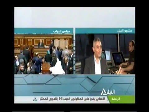 قناة النيل للاخبار حوار خاص مع الدكتور سعد الجيوشى وزير النقل على الكراكة  بميناء دمياط   10 1 2016