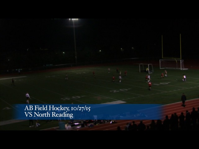 Acton Boxborough Varsity Field Hockey vs North Reading 10/27/15