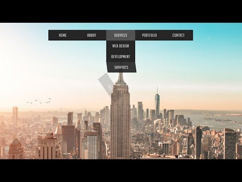 Animated dropdown menu hover effect | Dropdown menu with css animation