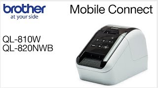 Connect your Brother QL810W to a mobile device