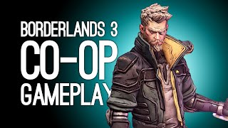 Borderlands 3 Co-Op Gameplay: Let's Play With New Characters Zane & Moze - APES, LASERS, FIGHTING!
