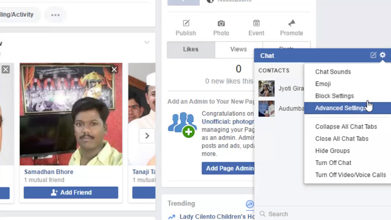 how to close chat in facebook