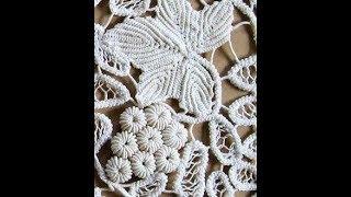 Вязание Крючком - Ирландское Кружево - 2018 / Crochet Irish Lace Knitting / Irish Lace Knitting
