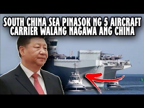 LAGOT NA! CHINA Pinasok nanaman ng 5 Air craft carrier walang nagawa | History and Facts Tv