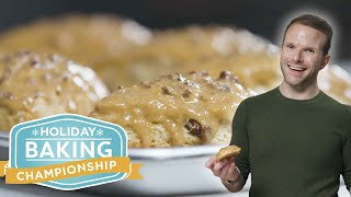 Maple Bacon Scones with Zac Young | Holiday Baking Championship | Food Network