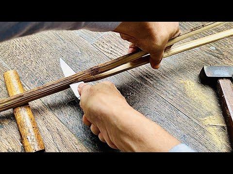 DIY Own Fishing Toys(part 1)- Bamboo Rod - Бамбуковая удочка(часть 1)
