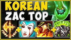 THE *NEW* ZAC TOP BUILD THAT'S SWEEPING KOREA IS 100% ABSURD! ZAC TOP SEASON 10! - League of Legends