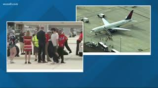 Caps arrive back in DC after the win