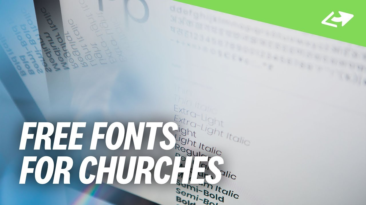 7 FREE Fonts For Church Designers [Winter 2019 Edition]