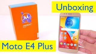Moto E4 Plus Unboxing and Setup - with Fingerprint Setup