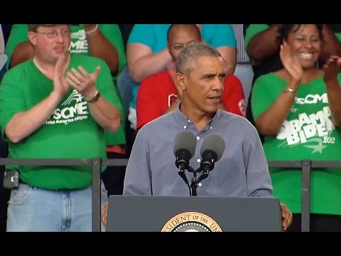 President Obama speaks at the 2014 Milwaukee Laborfest