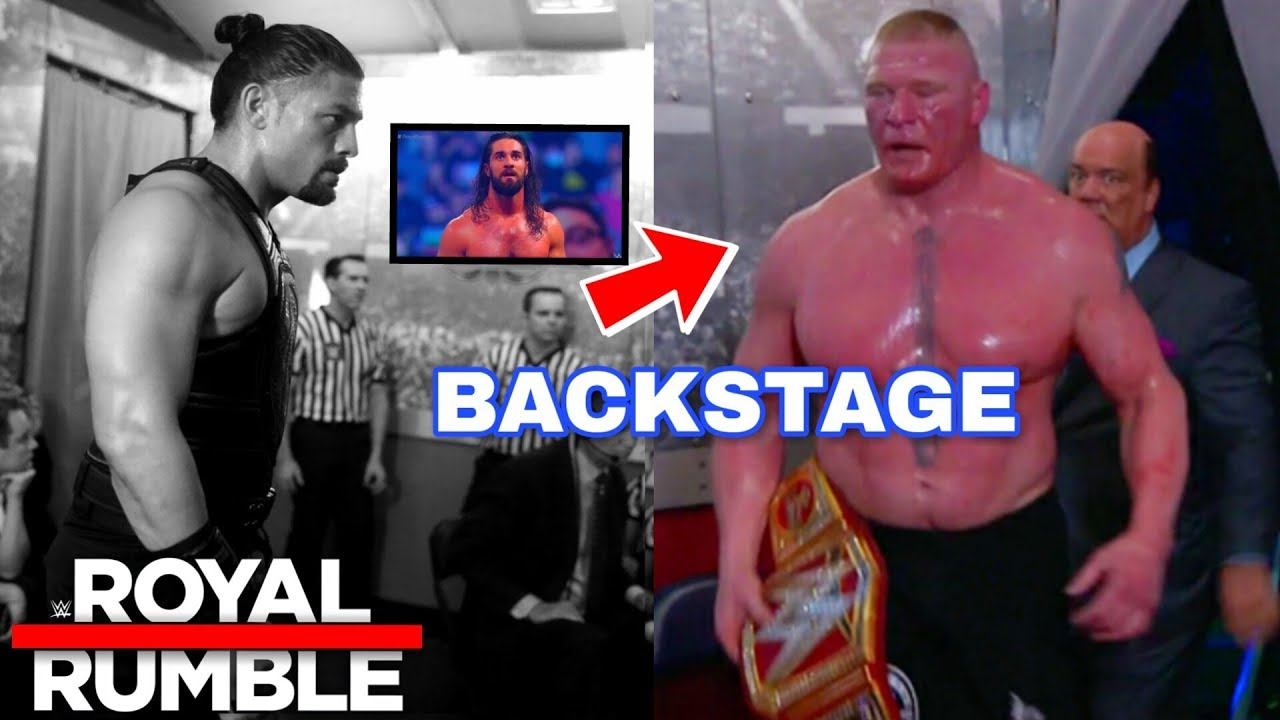 Roman Reigns BACKSTAGE At ROYAL RUMBLE ? Brock Lesnar BACKSTAGE INCIDENT ! WWE Royal Rumble 2019 !