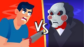 YOU vs JIGSAW (Saw Movie) Could You Defeat and Survive Him? || FUNNY ANIMATION CHALLENGE