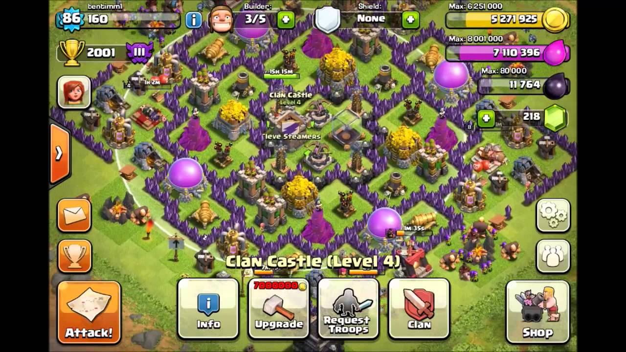 Best clash of clans defense town hall 9 farming base youtube