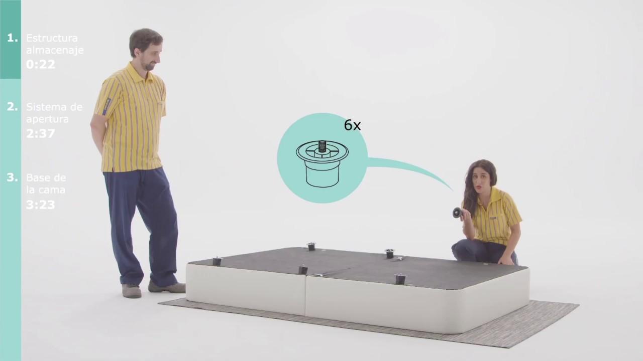Instrucciones de montaje del canap rje ikea youtube - Como hacer un canape ...