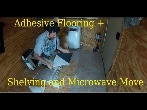 Adhesive backed Tile Flooring   ......    6x10 Enclosed Trailer Conversion Project
