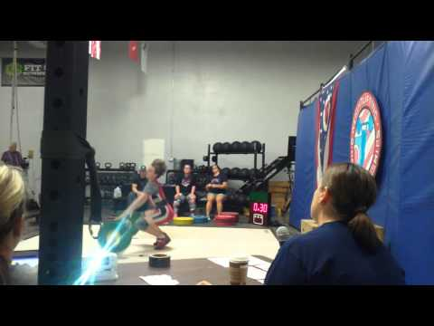Kyle Holman (62kg) Junior Lifter. Snatch attempts