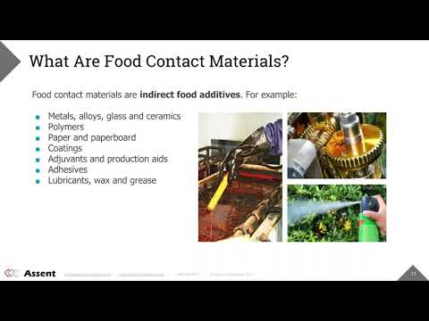 [Webinar] - Introduction to Food Contact Regulations