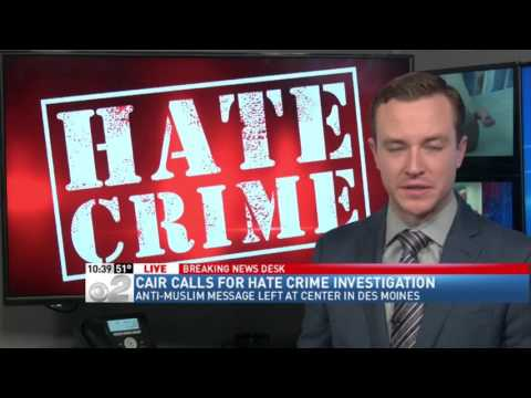 video:-cair-iowa-calls-for-hate-crime-probe-of-trump-supporter's-anti-muslim-message-left-at-mosque