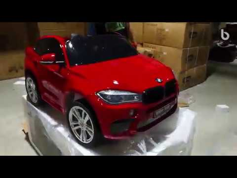 Unboxing And Assembly Of New Bmw X6 M Electric Car For Kids
