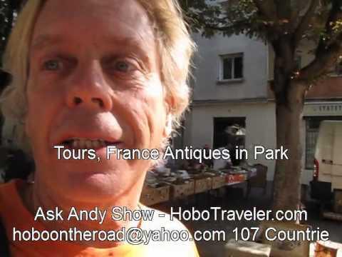 Tours, France Antiques in Park