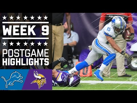 Lions vs. Vikings   NFL Week 9 Game Highlights